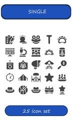 single icon set