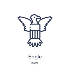 eagle icon from united states outline collection. Thin line eagle icon isolated on white background.