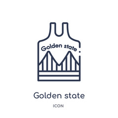 golden state icon from united states outline collection. Thin line golden state icon isolated on white background.