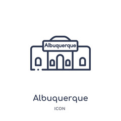 albuquerque icon from united states of america outline collection. Thin line albuquerque icon isolated on white background.