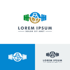 Firtness gym logo template, Sport icon design - vector