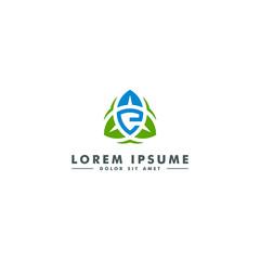 Letter E logo, oragnic leaf icon, nature beauty  design - vector