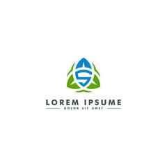 Letter S logo, oragnic leaf icon, nature beauty  design - vector