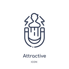 attractive icon from startup outline collection. Thin line attractive icon isolated on white background.