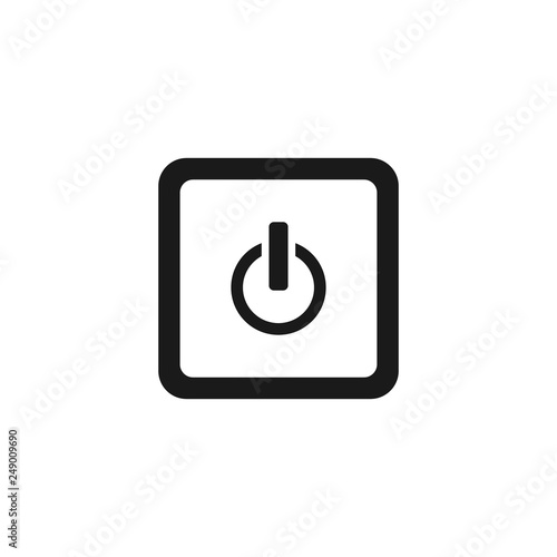 Play stop and pause button vector icon on white background