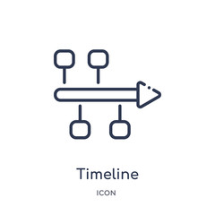 timeline icon from social media marketing outline collection. Thin line timeline icon isolated on white background.