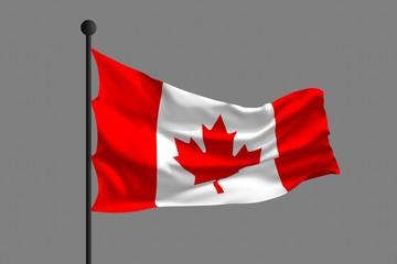 Waving flag of Canada. 3D rendering