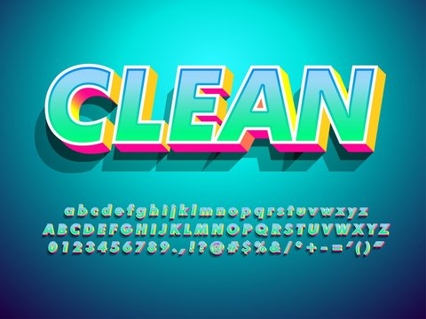 vector of modern clean 3d gradient text effect with shadow and modern background compatible with illustrator 10