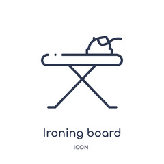 ironing board icon from sew outline collection. Thin line ironing board icon isolated on white background.