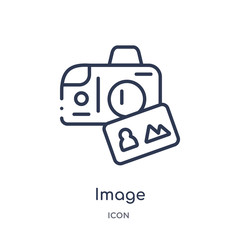 image icon from search engine optimization outline collection. Thin line image icon isolated on white background.