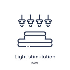 light stimulation icon from sauna outline collection. Thin line light stimulation icon isolated on white background.