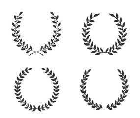 Hand Drawn Laurel Wreaths