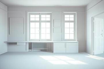 3d render of beautiful, empty interior render