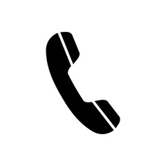 Telephone receiver, phone icon on white background