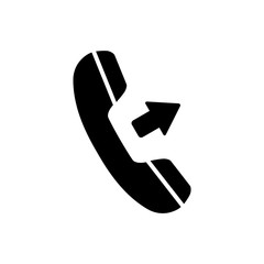Outgoing call, phone icon on white background