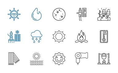 warm icons set