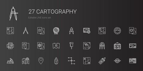 cartography icons set
