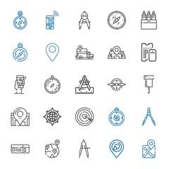 destination icons set