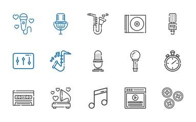 record icons set