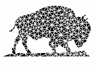bison vector abstract