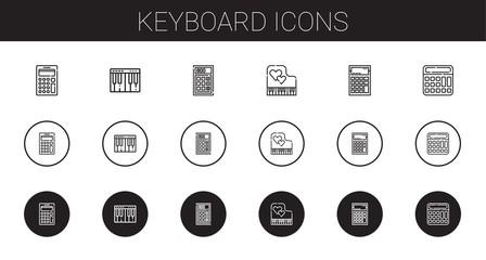keyboard icons set