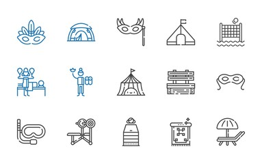relaxation icons set