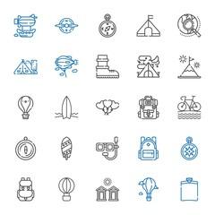 adventure icons set