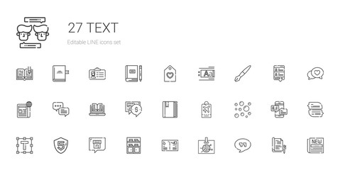 text icons set