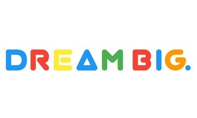 Dream big word made of colorful blocks