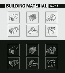 Building Material Icons - Set Web & Mobile 01