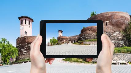 gate to Old Ankara Castle in Turkey