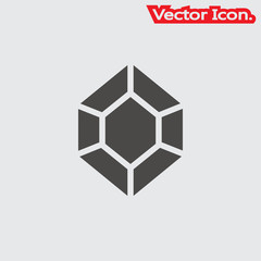 Crystal icon isolated sign symbol and flat style for app, web and digital design. Vector illustration.