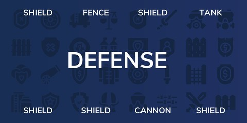defense icon set