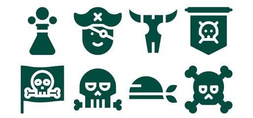 piracy icon set