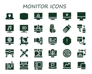 monitor icon set