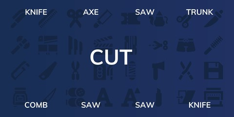 cut icon set