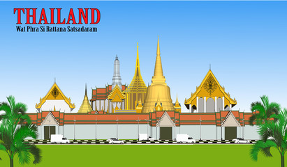 Vector Phra Kaew Temple