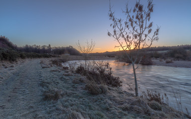 Frosty Morning by River Dee