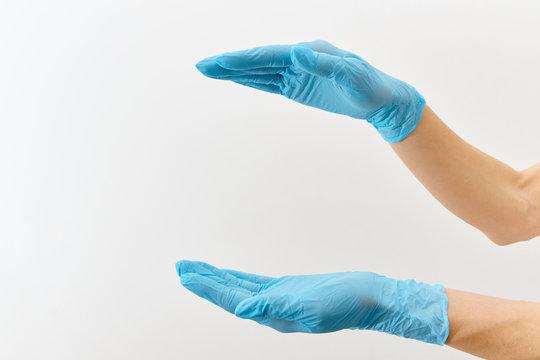 Doctor hand gloves