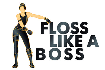 floss like a boss, dance, t-shirt - Vector
