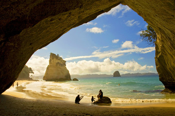 Photo sur Plexiglas Cathedral Cove Cathedral Cove at Coromandel Peninsula, North Island, New Zealand.