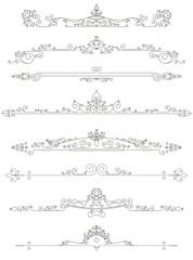 Set of vintage line dividers illustration