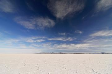 Salar de Uyuni, worlds largest salt lake, Bolivia, South America.