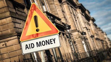 Sign 385 - AID MONEY