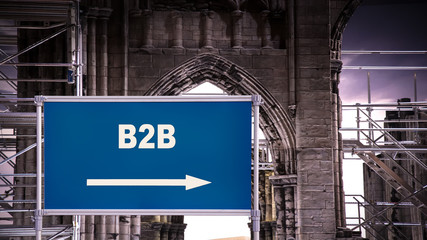 Sign 376 - B2B
