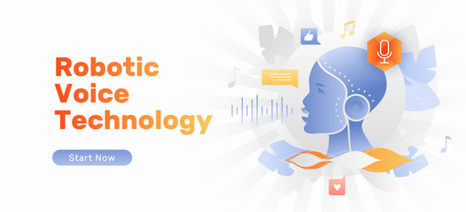 Robotic Voice Technology Banner