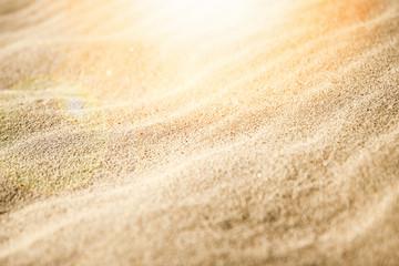 Beautiful sand near the sea on nature background