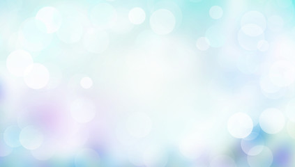 Wall Mural - Abstract blue background blur with bokeh