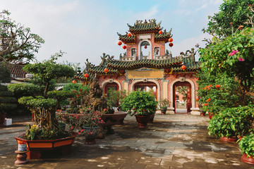 Fukian Assembly Hall or Phuc Kien in the Hoi An ancient town in Quang Nam Province of Vietnam.Vietnam,Hoi An, Unesco World Heritage Site. Hoi An is a popular tourist destination of Asia.