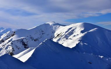 Tatry Tatrzański Park Narodowy zima TPN Góry